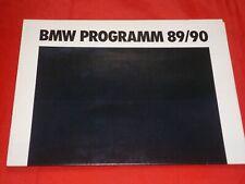 BMW 3er E30 5er E34 7er E32 8er E31 M3 E30 M5 E34 Z1 Prospekt Brochure von 1989