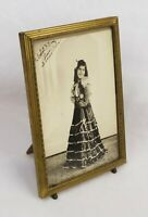 """Vintage 1940's Ornate Embossed Brass Picture Frame Photo Fits 7"""" x 5"""""""