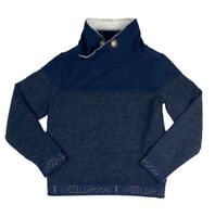 S. Oliver Boys Youth Small Elastic Waist/Sleeve Pullover Sweater Sweatshirt Blue