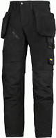 6203 Snickers Black RuffWork, Work Trousers Holster Pockets