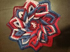 NEW  Handmade Crochet Hot Pad / Table Trivet -Spiral