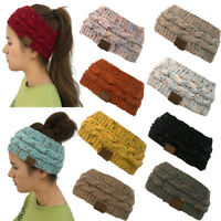 Fashion Women Winter Knitted Ear Warmer Headband Crochet Wool Hairband Hat