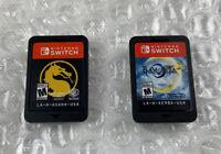 Mortal Kombat 11 & Bayonetta 2 (Nintendo Switch) Carts Only, Tested Working