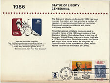 4/7/1986 - First Day of Issue - Statue of Liberty Centennial - 14 cm X 21,5cm