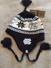NORTH CAROLINA TAR HEELS NCAA 47 BRAND BEANIE TASSLED CAP HAT NWT YOUTH ONE SIZE