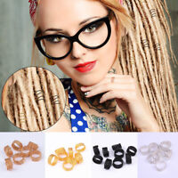 2/25/50Pcs DIY Hair Braid Dreadlock Beads Twist Spring Ring Accessories Unisex