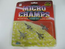 2-VINTAGE DIL MICRO CHAMPS AVIONES-COMPATIBLE CON MICROMACHINE Y TENTE-OLD STOCK
