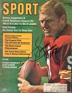 Sonny Jurgensen Autographed October 1969 Sport Magazine W/ HOF 83