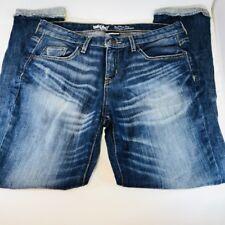 Mossimo Jr Boyfriend Crop Stretch Raw Hem Jeans Size 2 (k18)