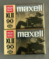 Lot Of 2 MAXELL XL II 90 Min High Bias Position, Type II  Cassette Tapes.