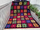 Handmade Vintage Moroccan Azilal Rug Beni Ourain Wool Rug Berber Tribal Carpet