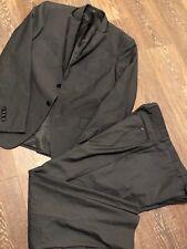 cerruti 1881 suit Blazer Jacket Suit 2 Button With Pants Black Super 150 Wool