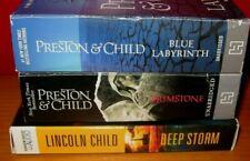 Preston & Child lot 3 CD Audiobooks BRIMSTONE Blue Labyrinth DEEP STORM
