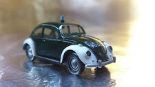 * Brekina 25200 VW Beetle Green / White (Police) Polizei Vehicle 1:87 HO Scale