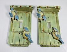 "2~Marjolein Bastin Single Switch Plate Light💡 Cover Birds� Birdhouse 6""x 3.5�"