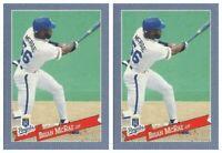 (2) 1993 Hostess Baseball #12 Brian McRae Baseball Card Lot Kansas City Royals