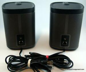 SONOS PLAY:1 Wireless Pair of Speakers, Black, Near Mint Condition NO RESERVE