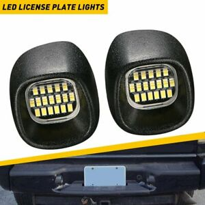 White LED License Plate Lights Tag Lamps For Chevy S10 GMC Sonoma Blazer Jimmy