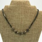 """Men's Surfer Steampunk Beaded Metal Necklace Approximately 16"""" Long"""