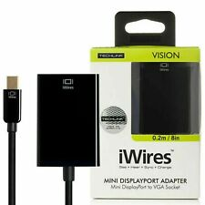 MINI DISPLAY PORT ADAPTOR TO VGA SOCKET - Black Techlink 526421