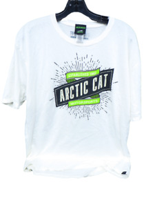 Arctic Cat Motorsports EST 1962 Men's Short Sleeve Tee Shirt White Size L