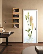 3D Daffodil Self-Adhesive Living Room Door Murals Bathroom Wall Stickers Photos