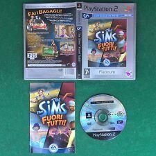 (PS2) THE SIMS FUORI TUTTI ! (ITA 2003) PlayStation 2 Platinum + Manuale Gioco
