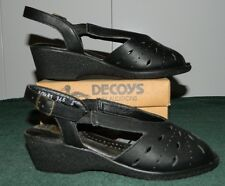 NIB Decoys by Auditions Black Orthopedic Occupational Sandals Size 5 W