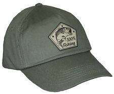 Fishing Baseball Cap 100% Fischer Hat Sports Water Fish Olive