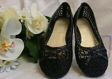 Mädchen Festliche Kinder Schuhe Hochzeit Kinderschuhe Gr. 27 Schwarz Ballerinas