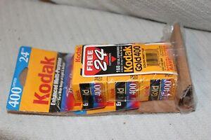 Three NEW Expired Rolls of Kodak Gold Ultra 24 Exp 400 Speed 35mm Camera Film