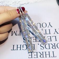 Long Geometric Drop Dangle Earrings Rhinestone Ear Studs Women Jewelry Gift new.