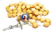 Saint Pope John Paul II wooden wooden color 3rd class RELIC rosary Karol Wojtyla