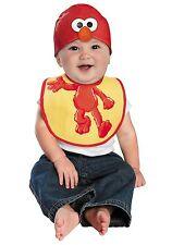 NEW Infant Elmo Hat Cap and Bib Set