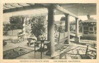 C-1910 Los Angeles California Veranda Private Home RPPC Photo Postcard 20-11214