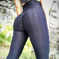 Women's Yoga Pants Butt Lift Leggings High Waist Workout Ruched Trousers Joggers