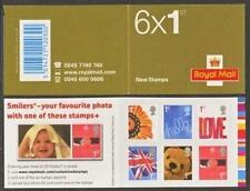 GB QEII MNH STAMP BARCODE BOOKLET QA1 2005 SMILERS SG 2567-2573