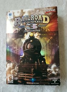 RAILROAD TYCOON 3 For Mac MACINTOSH ☆Complete In Box ☆MacSoft Computer Game 2004