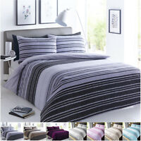 Striped Duvet Cover Set With Pillow Cases King Size Double Single Super Bedding