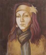 Young woman portrait oil painting