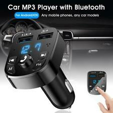Wireless Bluetooth Car FM Transmitter Kit 2usb Fast Charger Mp3 Player Handsfree