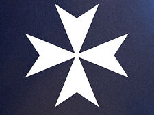 MALTESE CROSS Knights of Malta Vinyl Car Window Bumper Sticker
