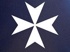 MALTESE CROSS Knights of Malta Vinyl Car Window Bumper Sticker