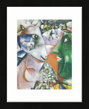 FRAMED ART - I and the Village, 1911 by Marc Chagall Print Black Frame 13x16