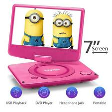 7 inch Swivel Screen Portable DVD Player with Internal Battery and USB Playback