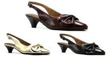 Nuevo Mujer Soft Style Por Hush Puppies Alissa Burdeos Oro Charol Negro Zapatos