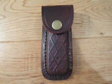 Bersa .380 single stack or RUGER 380 LCP magazine leather pouch. Brass snap