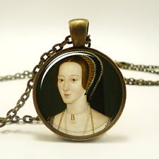 Anne Boleyn Necklace, Queen of England Tudor Pendant, Henry VIII (0518B1IN)