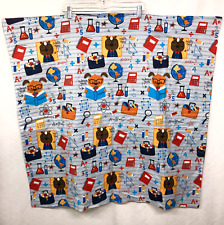 Project Linus Handmade Quilt Lap Blanket 35 x 36 Math Science Dog Squirrel