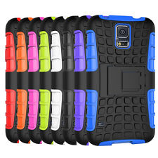 For Samsung Galaxy S5 Case Dual Layer ShockProof Hybrid Armor Kickstand Cover